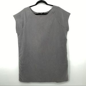Curator SF Grey tunic T-shirt shift dress pockets